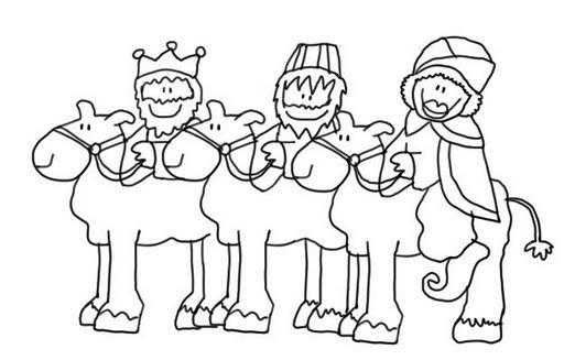 Los Reyes Magos Coloring pages and more by Educando Entre Mundos | 327x512